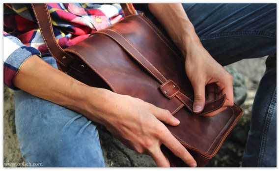 Cognac Leather Vertical Messenger Bag Men - Computer Laptop Tablet A4 Bag for College - Genuine Italian Leather If you are looking for the convenient and practical messenger bag for everyday use, this leather vertical laptop bag is just for you! This over the shoulder bag is is large enough for A4 documents, folders, textbooks, 13 or 15 laptop, IPad Air, Ipad Air 2, or MacBook (please see size options).This messenger is perfect for college, school or work. High quality genuine waxed Italian…