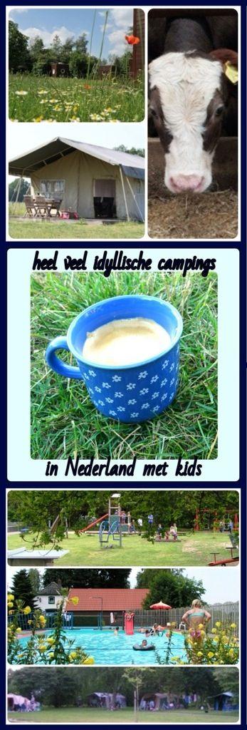 Een overzicht van heel veel leuke idyllische campings in Nederland met kids. #camping #kamperen #kinderen #minicamping. Groningen Friesland Drenthe Overijssel Gelderland Flevoland Utrecht Noord-Holland Zuid-Holland Zeeland Brabant Limburg