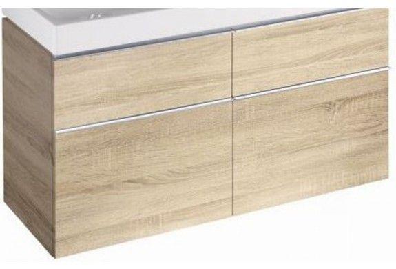Sphinx 345 wastafelonderkast voor dubbele wastafel met 4 laden 119x62x47,7cm, eiken naturel - S8M09027YM0