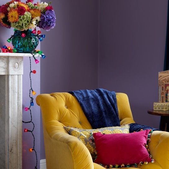 Love these colors! Lavender and yellow, with hot pink . . . Fun!