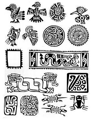 Símbolos mayas.                                                                                                                             Más