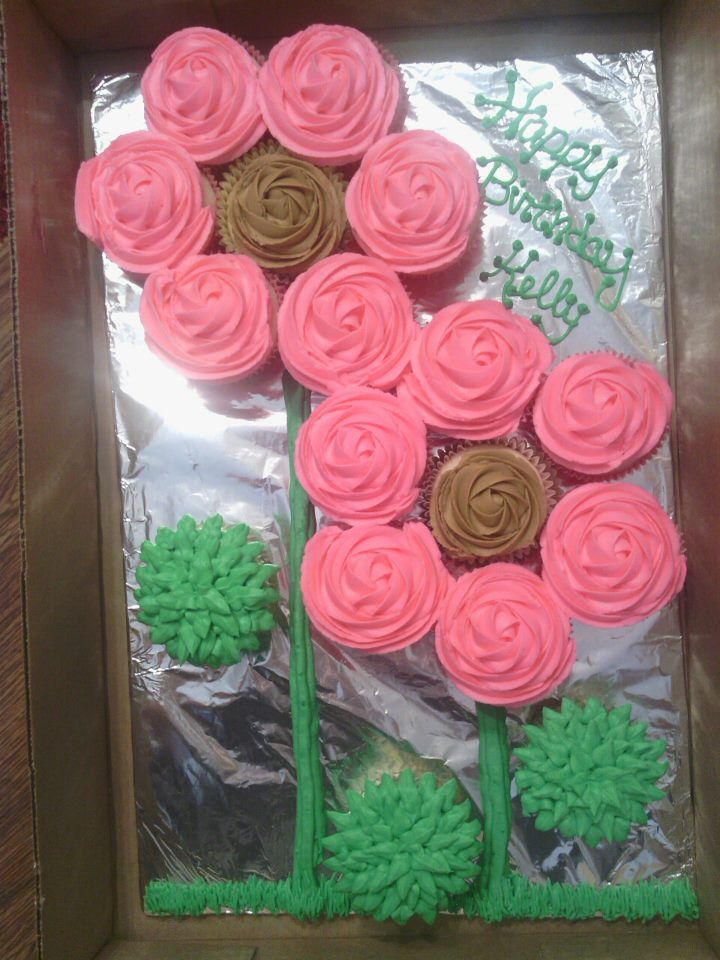 Cake Designs Made Out Of Cupcakes : 25+ Best Ideas about Girl Birthday Cupcakes on Pinterest ...