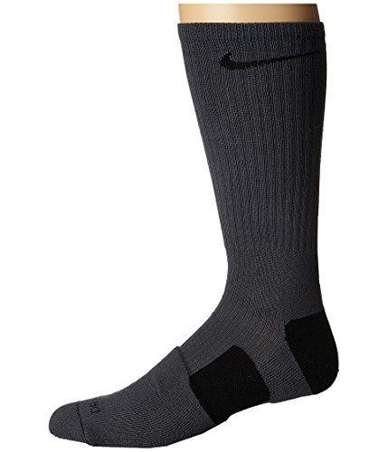 pretty nice 8f060 a6d6a Elite Basketball Crew Dark Grey Black Black Crew Cut Socks Shoes