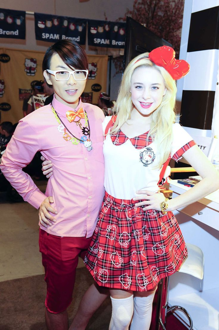 Alessandra Torresani in a Hello Kitty outfit.