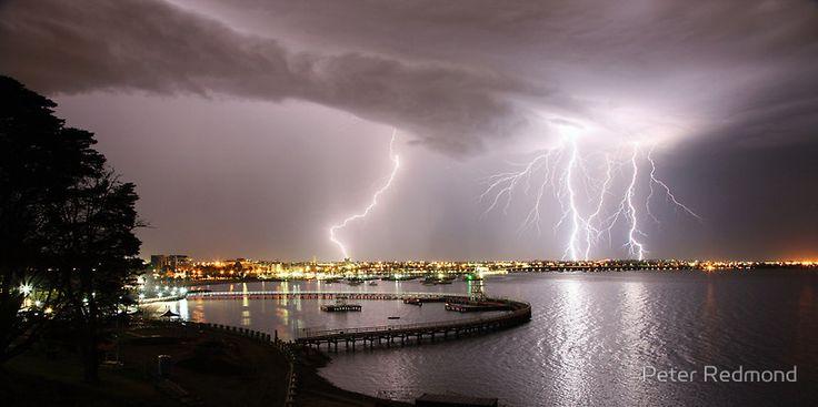 """""""Geelong Lightning"""" by Peter Redmond."""