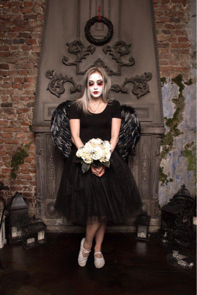 Geweldig deze foto van dame in zwarte tule rok