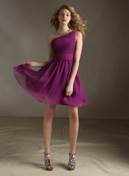 One Shoulder Chiffon Bridesmaid Dress Mori Lee