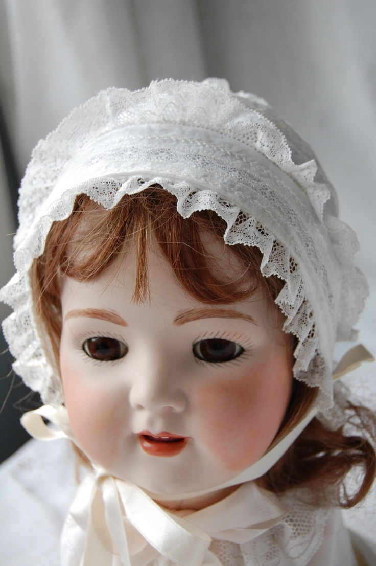 This Little Bonnet Was Made Using Old Fashioned Baby Pattern Raglan Christening Gowns