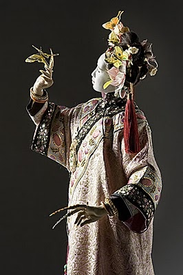 Chen Fei, Pearl Concubine from   George Stuart Historical Figure wearing nail guards..