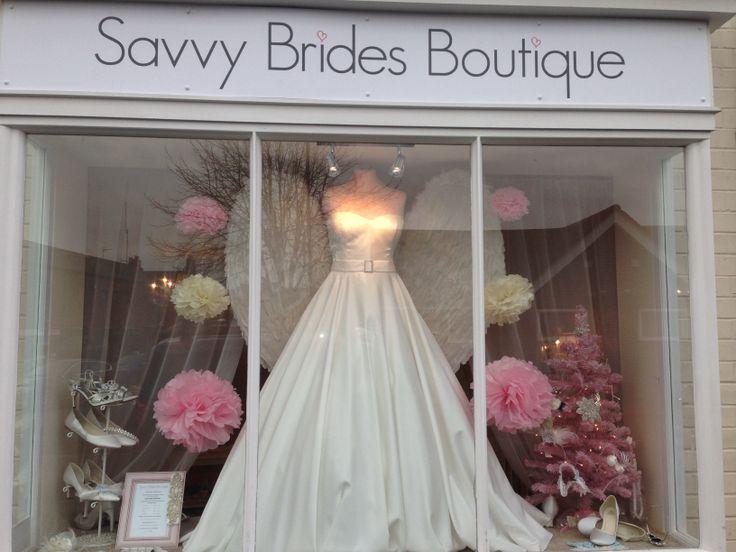 Xmas Window  The Bridal Room Atherstone | www.TheBridalRoomAtherstone.co.uk | info@ TheBridalRoomAtherstone.co.uk | T:01827 767 080 | #brides #wedding
