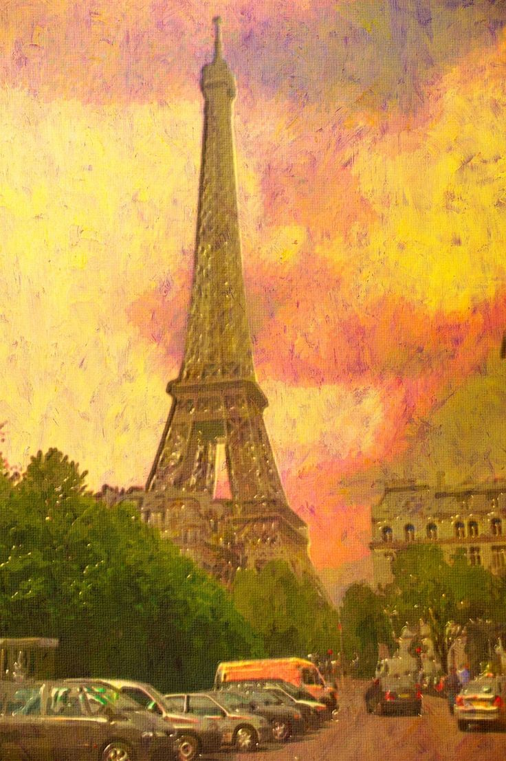 #France #Eiffel #painting #acrylic #wallpaper #app #android