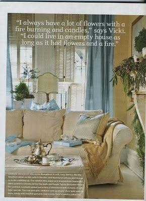 Pottery Barn sofa, blue, cream