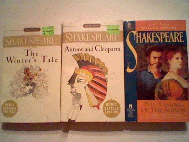 3 William Shakespeare play lot : Winter's tale / Taming of the Shrew / Antony