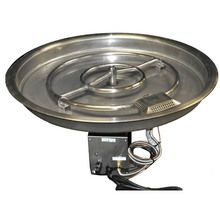 HPC 31 Inch Bowl Pan Fire Pit Insert - Remote Electronic Ignition-LP Gas