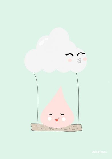 Baby, nursery, art, decor, decorate, decorating, decoration, decorations, cloud, clouds, swing, print, prints