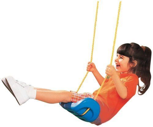 Little Tikes Swing Seat by Little Tikes. $17.99. From the Manufacturer                Durable one-piece swing attaches easily to any wood or metal swing set.  Comes pre-assembled with heavy-duty, rust-resistant adjustable chains and self-leveling rope.                                    Product Description                This rugged and durable swing can be used as a replacement swing for your swing set. Replace a baby swing, glider, or other piece of existing swing set.