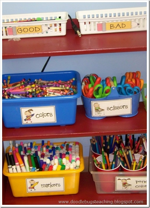 I Like The Idea Of Putting The Pencils In Individual Cups Within The Bin..  School Supplies OrganizationClassroom OrganizationClassroom ManagementCraft  ...