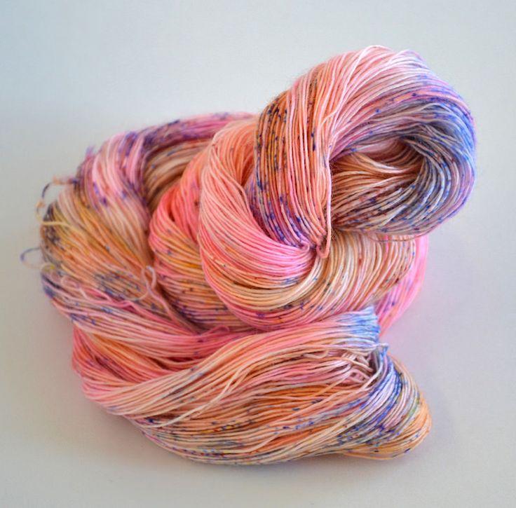 Bubblegum Speckle Merino Singles Lace