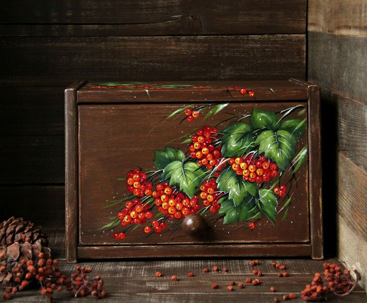 """Купить Деревянная хлебница """"Калина красная"""" (кедр) - ярко-красный, хлебница, деревянная игрушка"""