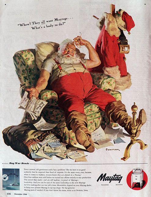 vintage santa magazine | Original vintage magazine ad for Maytag appliances featuring the ...