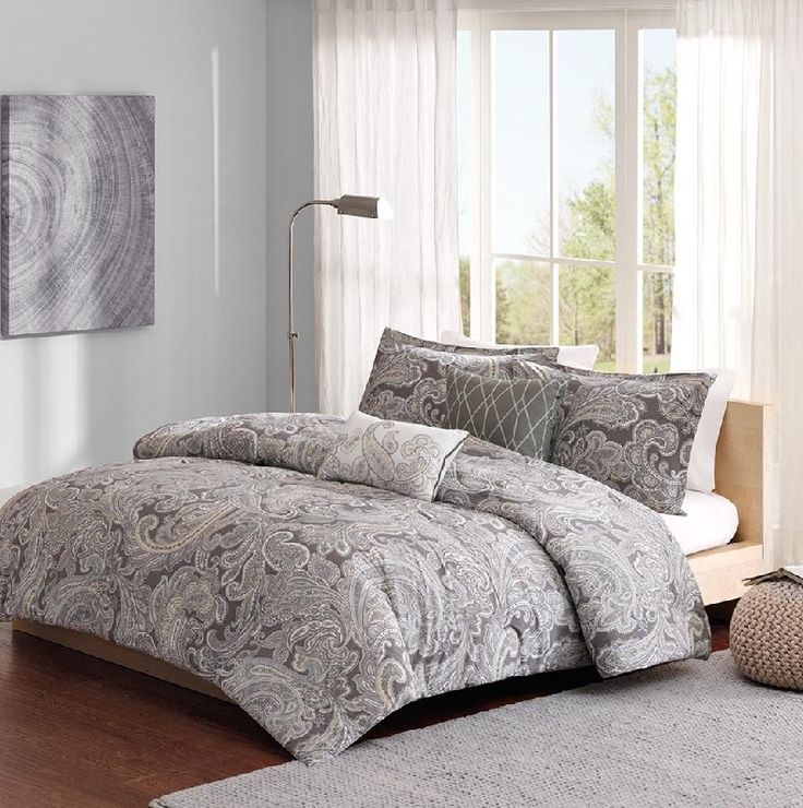 Ronan in Grey Comforter Sets by Madison Park Pure
