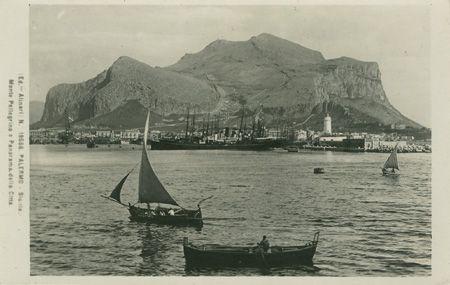 Palermo, Monte Pellegrino e Panorama della Citta, Ed. Alinari