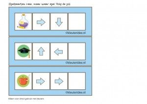 'Raar, maar waar', richtingspel voor kleuters met twee pijlen, kleuteridee.nl, kinderboekenweek 2015, free printable