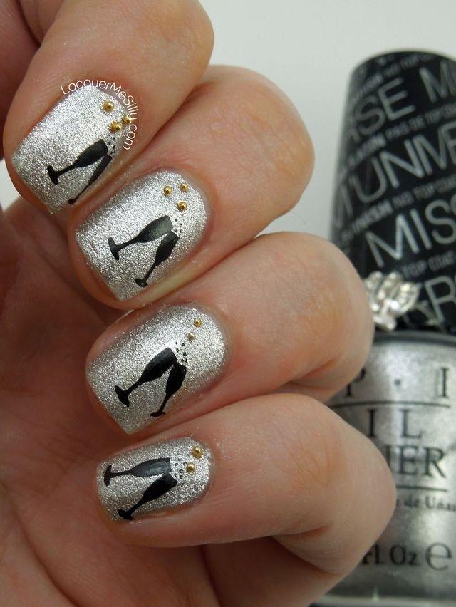 11 best Szilveszteri köröm minták images on Pinterest | Nail ...