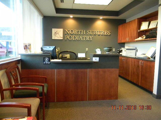 Reception-North Suburbs Podiatry Vadnais Heights