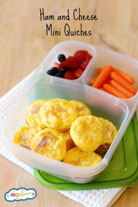These ham and cheese mini quiches are perfect for the lunchbox! Plus, tips on how to make healthier lunchboxes.