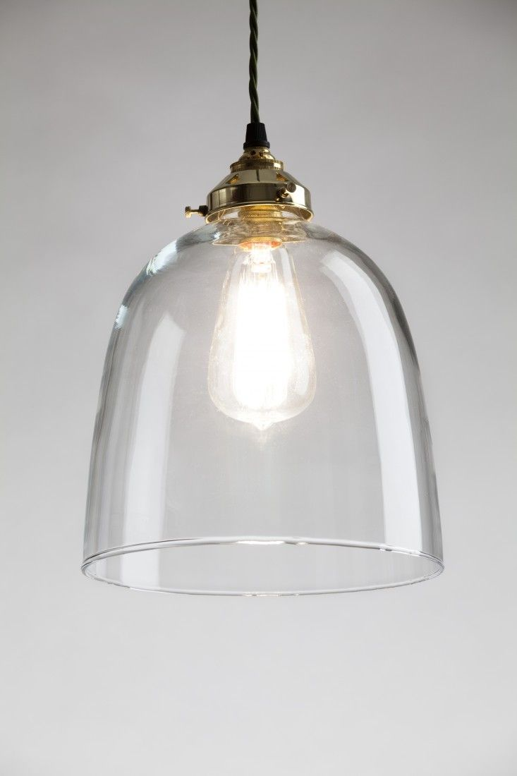 Clear Glass Lamp Shade: Bell Blown Glass Pendant,Lighting