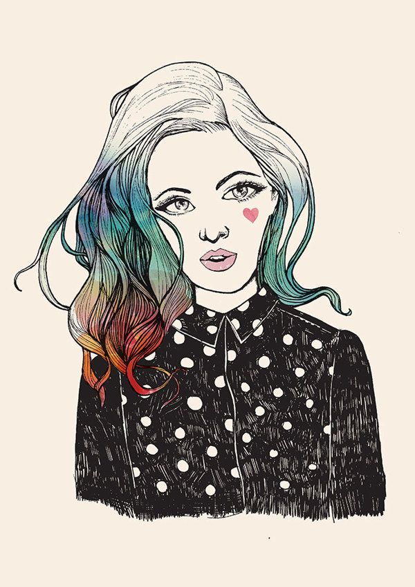 Blue Hair by Sophie Banh, via Behance