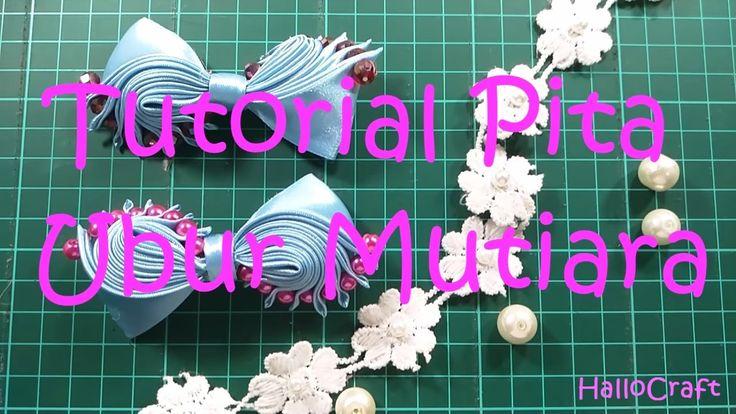 Tutorial Pita Ubur Mutiara | DIY Ribbon Bow Beads