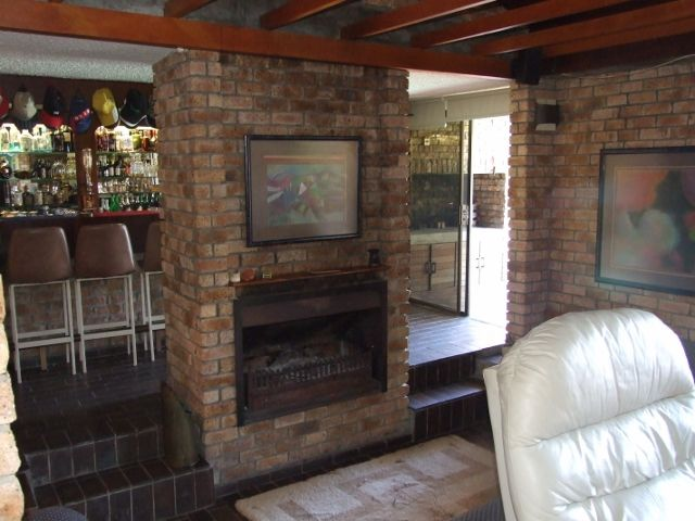 Fireplace in the living area