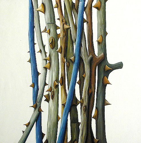 Rosenstöcke I -Acryl auf Leinwand- 100 x 100 cm