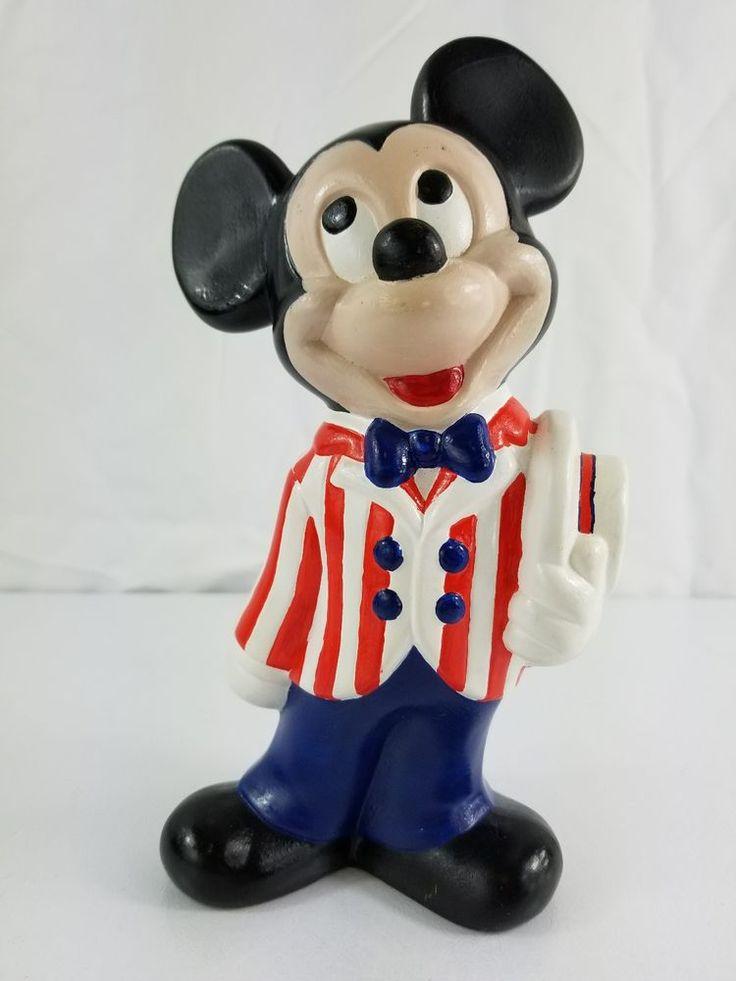 Vintage Ceramic Walt Disney Mickey Mouse Barber Shop Quartet Figure 9 Inches  #WaltDisney