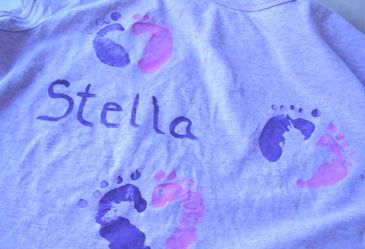 """Hand and Foot Print Shirt  This is definitely a """"hands-on"""" craft activity! Children will decorate a shirt with hand and foot prints."""