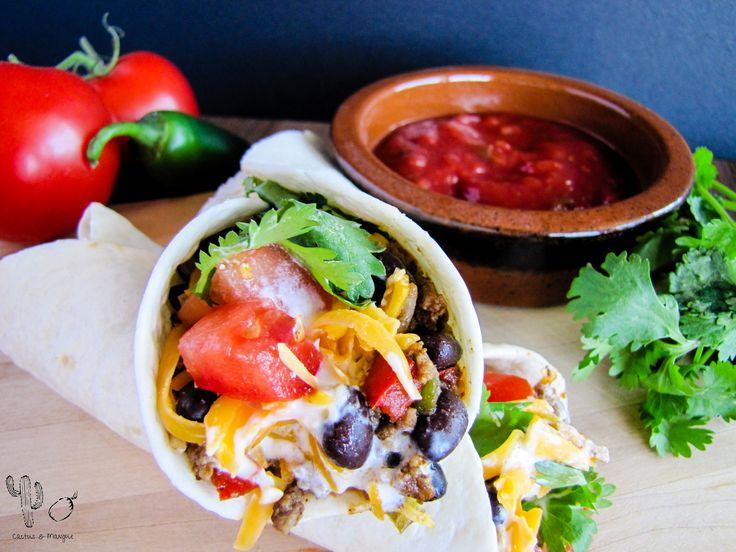 Burritos au bœuf et haricot