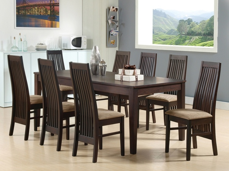 HAVANA DINING SET - Havana is our simplest design of all tables. Basic is beauty. With high back chairs of classic design that offers more than just high aesthetic value; 8 Seater; PRICE: 76780/-; Buy now: http://tfrhome.com/landing/productlandingpage.php?product_code=ds-06