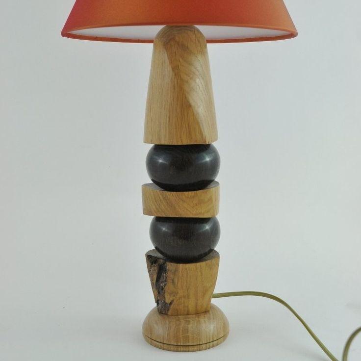 lampe en ch ne cr ation artisanale mod le unique fait. Black Bedroom Furniture Sets. Home Design Ideas