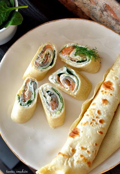 Filled crepes rolls / Naleśnikowe roladki