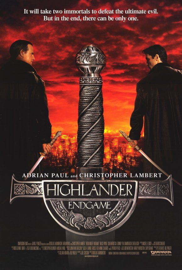 Highlander: Endgame , starring Christopher Lambert, Adrian Paul, Bruce Payne, Lisa Barbuscia. Immortals Connor and Duncan Macleod must join forces against Kell, an evil immortal who has become too strong for anyone to face alone. #Action #Fantasy #Sci-Fi