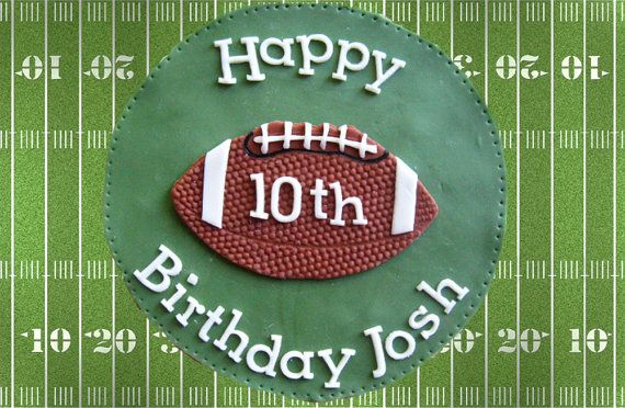 Fondant football cake topper (other sports available)