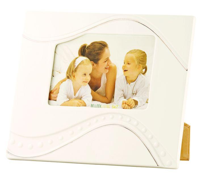 Silver Ripple Platinum Detail 5 x 7 Frame - Belleek €45.00
