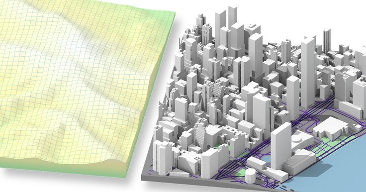 Instant CAD models  of any location on Earth