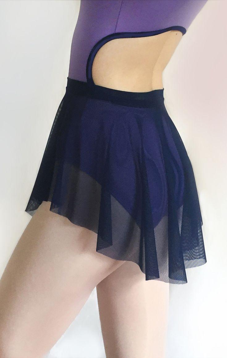 Navy blue mesh ballet skirt from Royall Dancewear