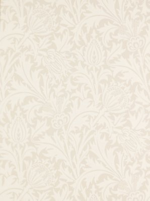 Sanderson William Morris wallpaper 'Thistle'.
