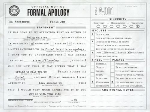 8 best Sample Apology Letters images on Pinterest Letter writing - letter of personal apology