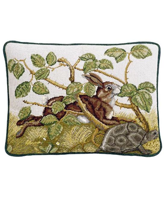 hare and tortoise needlepoint kit, beth russell