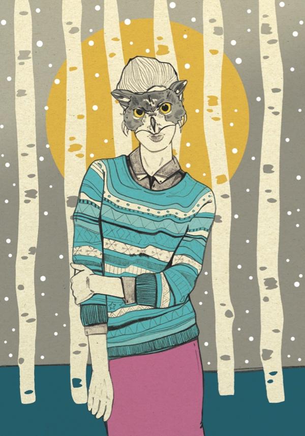 Winter by Magdalena Pankiewicz, via Behance